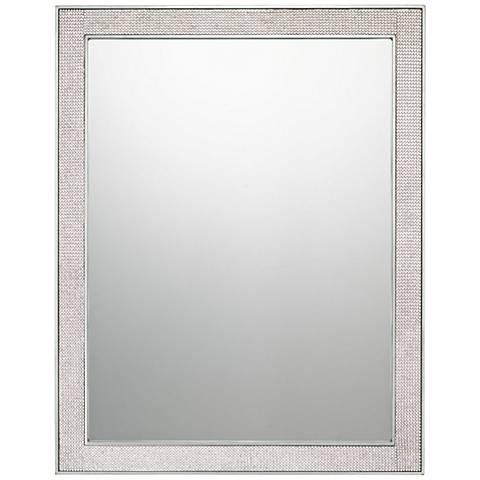 """Quoizel Evoke Silver Leaf 22"""" x 28"""" Wall Mirror"""