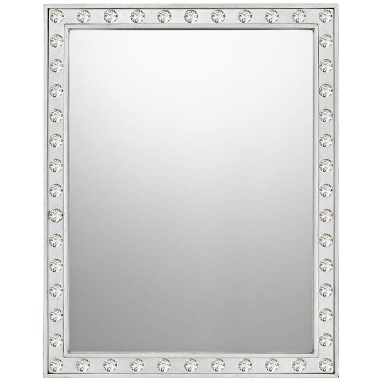"Quoizel Fame Silver Leaf 22"" x 28"" Wall Mirror"