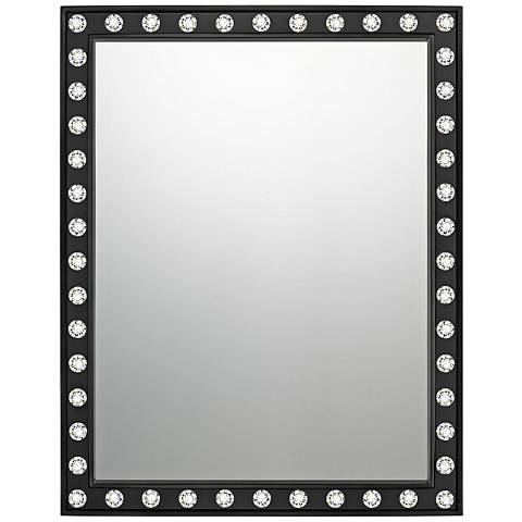 "Quoizel Fame Black 22"" x 28"" Wall Mirror"