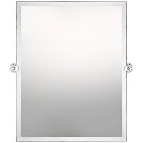 "Impression Polished Chrome 22"" x 28"" Rectangular Wall Mirror"