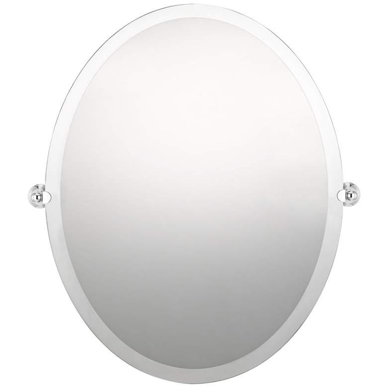 "Impression Polished Chrome 22"" x 28"" Oval Wall Mirror"