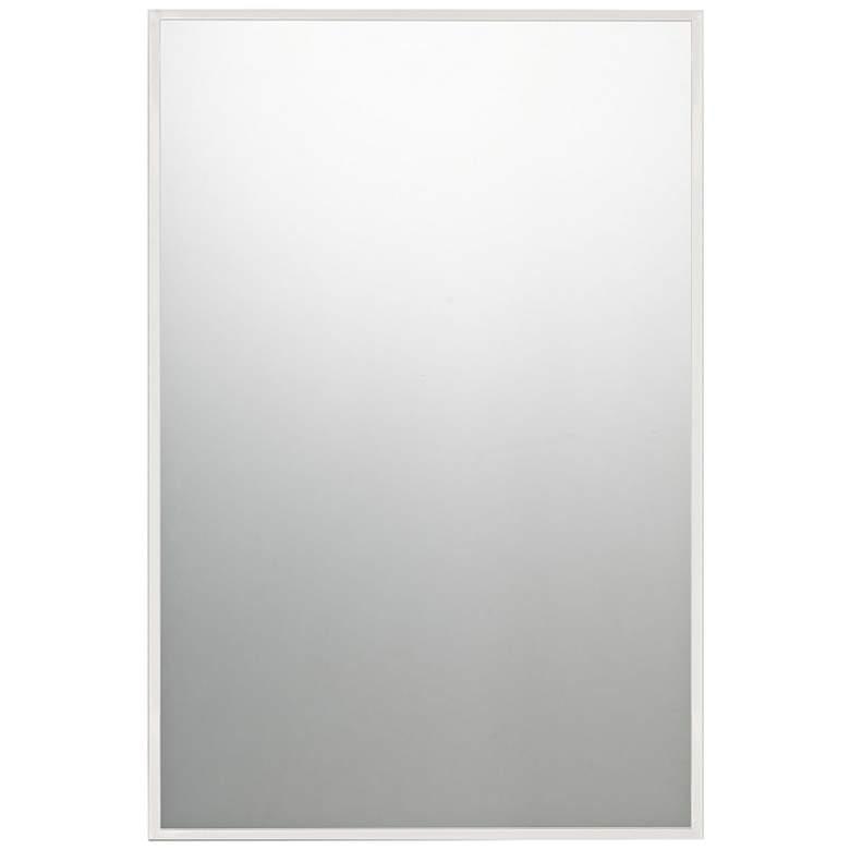 "Quoizel Lockport Polished Chrome 24"" x 36"" Wall Mirror"