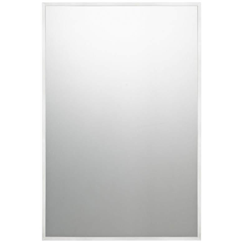 "Quoizel Lockport Brushed Nickel 24"" x 36"" Wall Mirror"