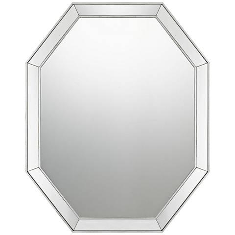 "Quoizel Riverdale Silver leaf 24"" x 30"" Wall Mirror"