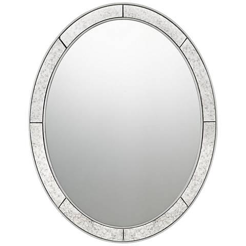 "Quoizel Revival Silver Leaf 22"" x 28"" Wall Mirror"