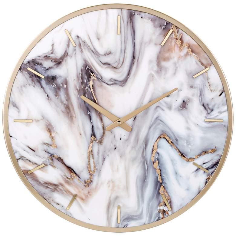 """Shirke Multi-Color 19 3/4"""" Round Wall Clock"""