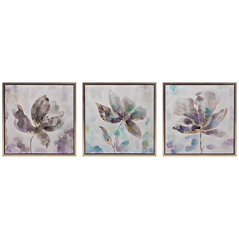 "Larissa 24"" Square 3-Piece Framed Canvas Wall Art Set"
