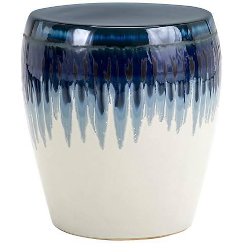 Hamako Blue Ceramic Garden Stool