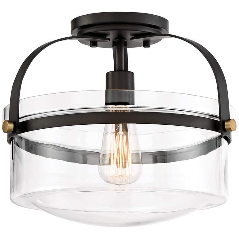 "Jaxon 13 1/4"" Wide Oil Rubbed Bronze Ceiling Light"