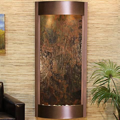 """Pacifica Waters 69""""H Multi-Color Stone Copper Vein Fountain"""
