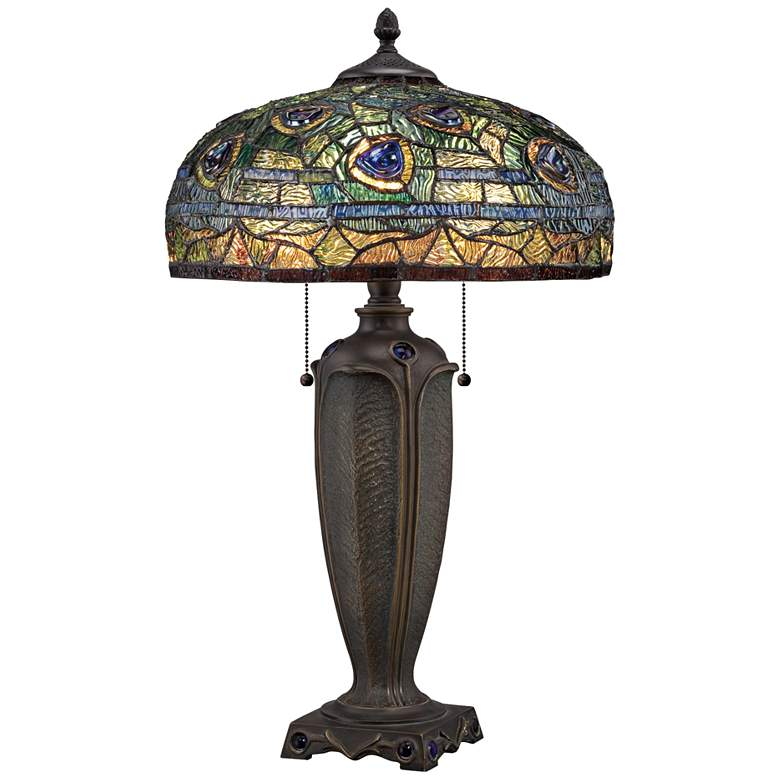 Quoizel Lynch Tiffany Glass Table Lamp