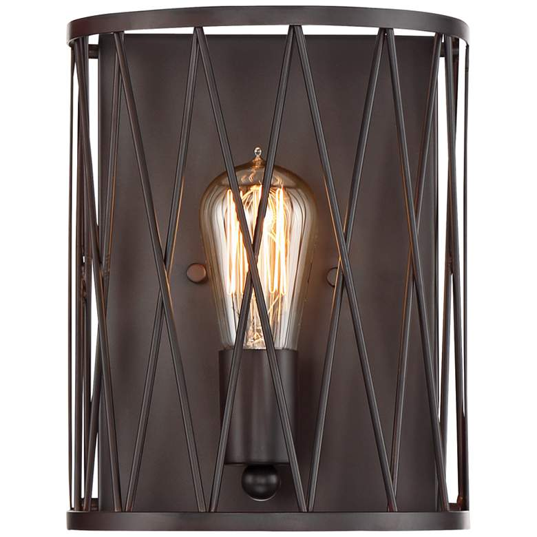 """Arris 10"""" High Vintage Bronze Wall Sconce"""