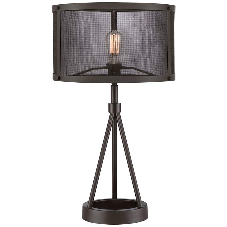 Quoizel Union Station Western Bronze Table Lamp