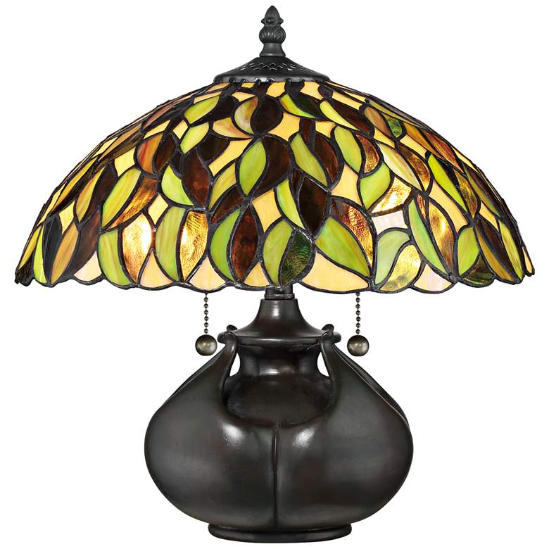 "Quoizel Greenwood 14 1/2""H Valiant Bronze Accent Table Lamp"