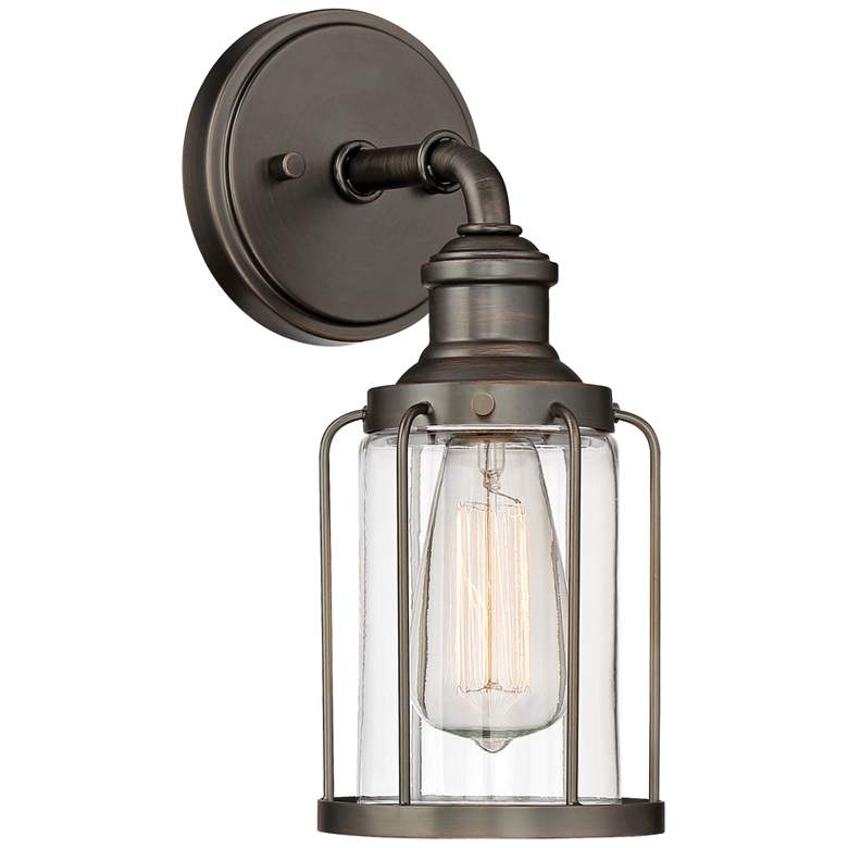 """Anson 12 1/2"""" High Satin Copper Bronze Wall Sconce"""
