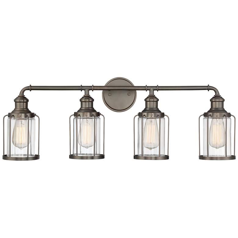 "Anson 32"" Wide Satin Copper Bronze 4-Light Bath Light"