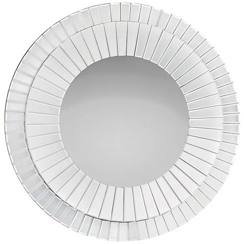 "Quoizel Muse 35 3/4"" Round Wall Mirror"