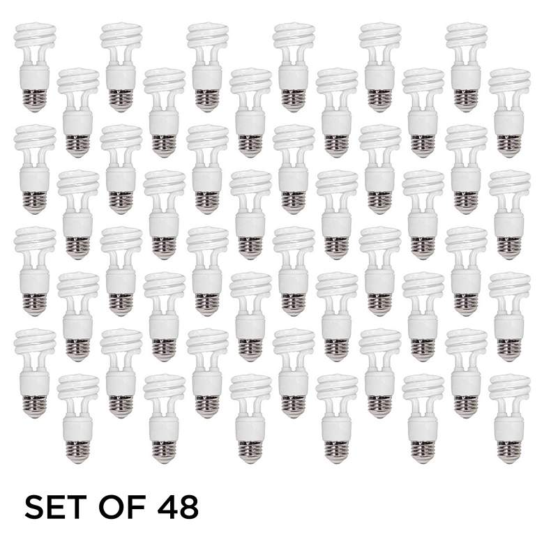 Feit 5W Warm White ENERGY Efficient Spiral CFL Bulb 48 Pack