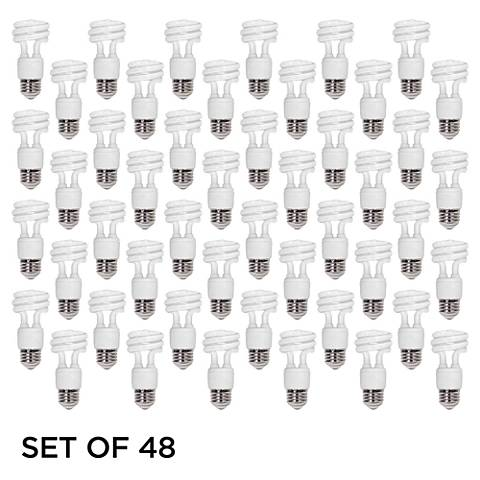 Feit 5 W Warm White ENERGY Efficient Spiral CFL Bulb 48 Pack