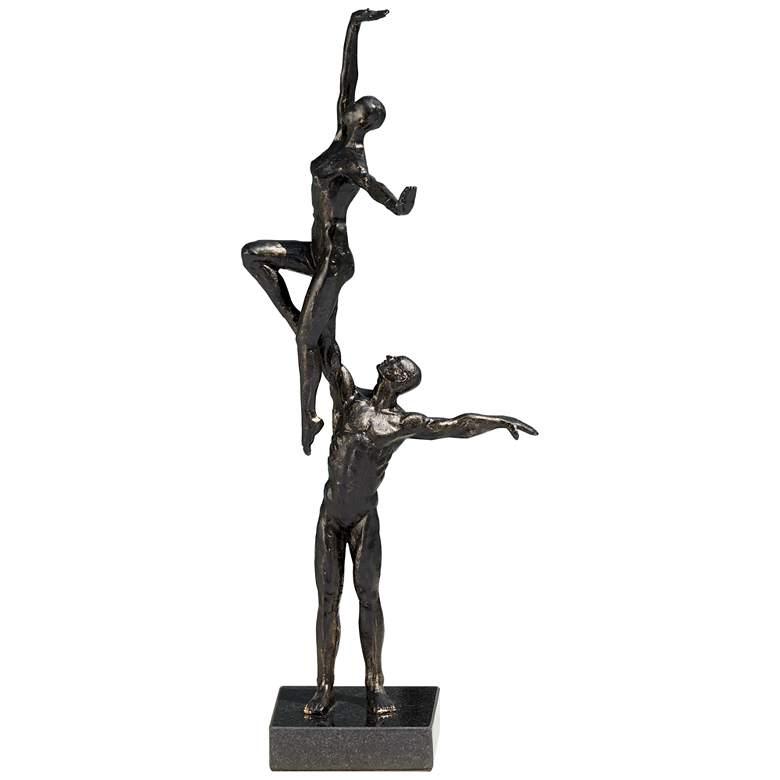 "Dancers Right Arm Lift 16 3/4"" High Bronze Iron Statue"
