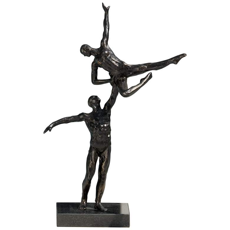 "Dancers Left Arm Lift 15 1/2"" High Bronze"