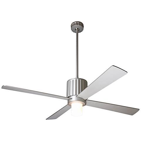 """52"""" Modern Fan Flute Textured Nickel LED Ceiling Fan"""