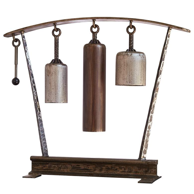 """Three Tone 36 1/2"""" Wide Musical Gong Chimes"""