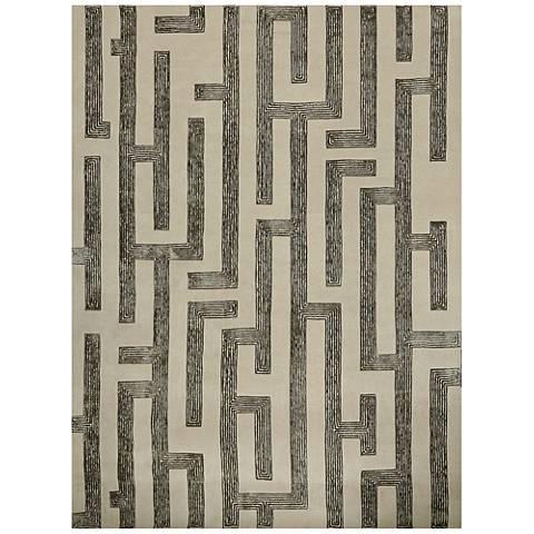 Labyrinth Gray Area Rug