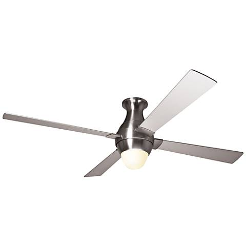 "56"" Modern Fan Gusto Bright Nickel Flush LED Ceiling Fan"