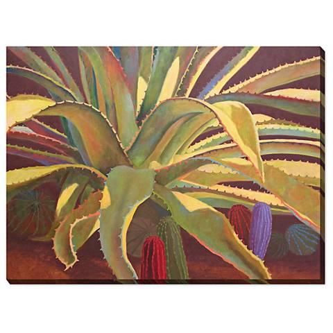 """Sundown 40"""" Wide All-Weather Indoor-Outdoor Canvas Wall Art"""