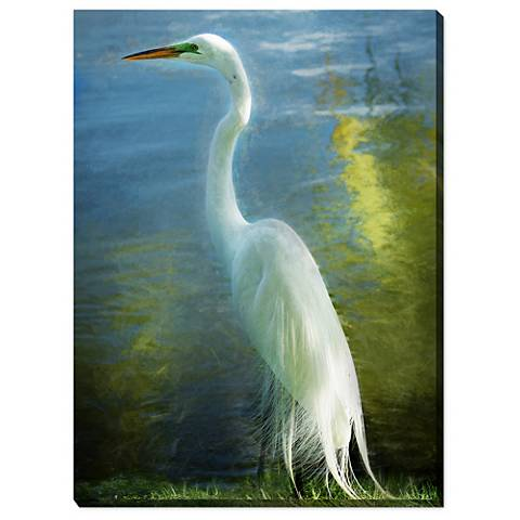 "Poised Patience 40"" High All-Weather Outdoor Canvas Wall Art"