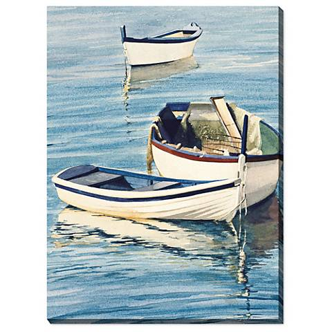 "Tranquil Trio 40"" High All-Weather Outdoor Canvas Wall Art"