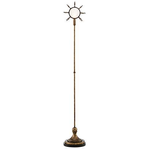 Currey and Company Sunburst Pyrite Bronze Floor Lamp