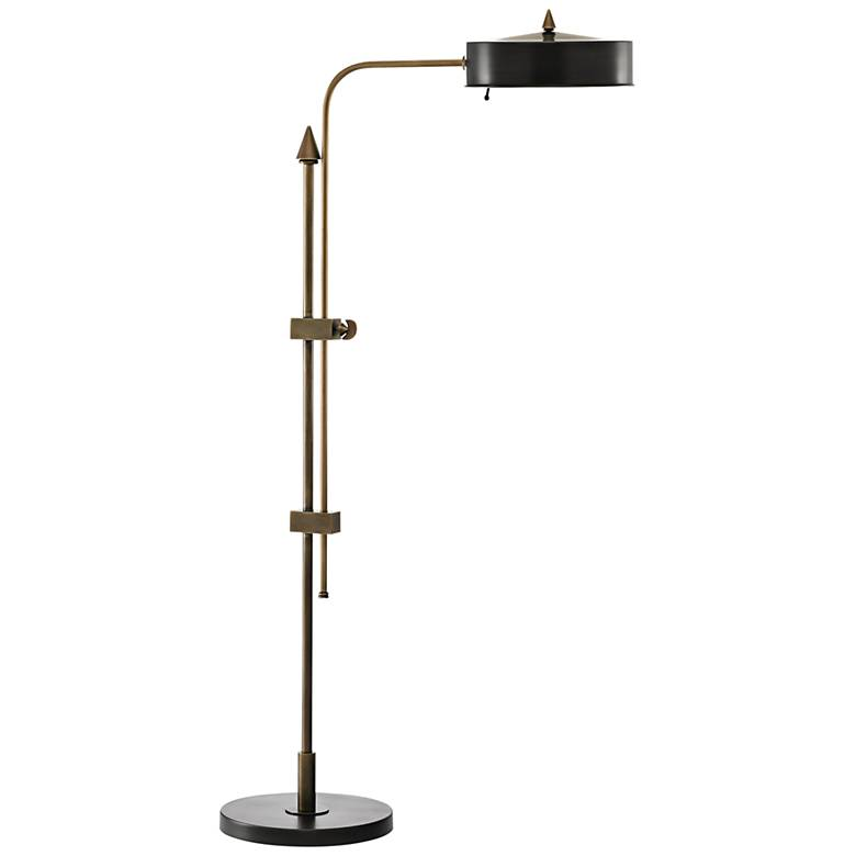 Abram Oil-Rubbed Bronze and Antique Brass Floor Lamp