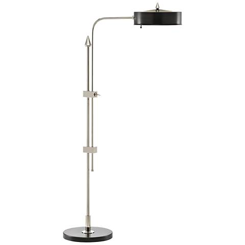Abram Oil-Rubbed Bronze and Polished Nickel Floor Lamp