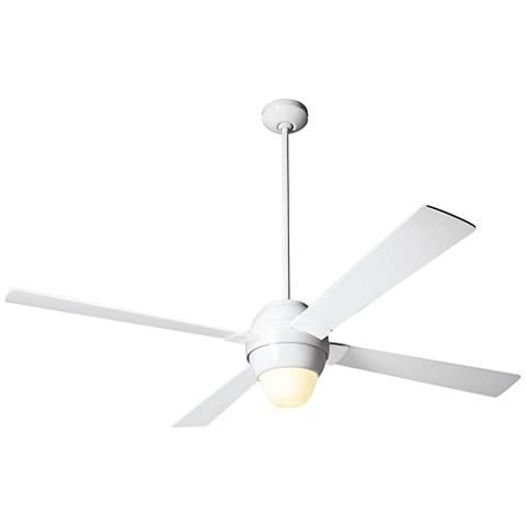 """56"""" Modern Fan Gusto Gloss White LED Ceiling Fan"""