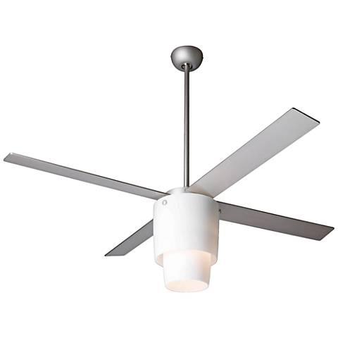 """52"""" Modern Fan Halo Textured Nickel LED Ceiling Fan"""