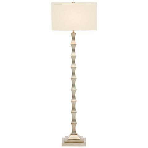 Currey and Company Lyndhurst Silver Leaf Floor Lamp