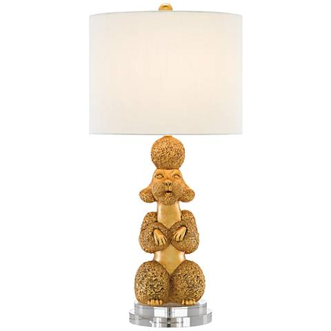 Currey and Company Ms. Poodle Royal Gold Table Lamp