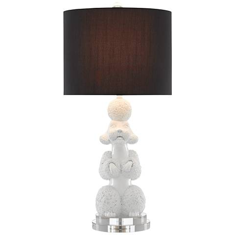 Currey and Company Ms. Poodle Snow White Table Lamp