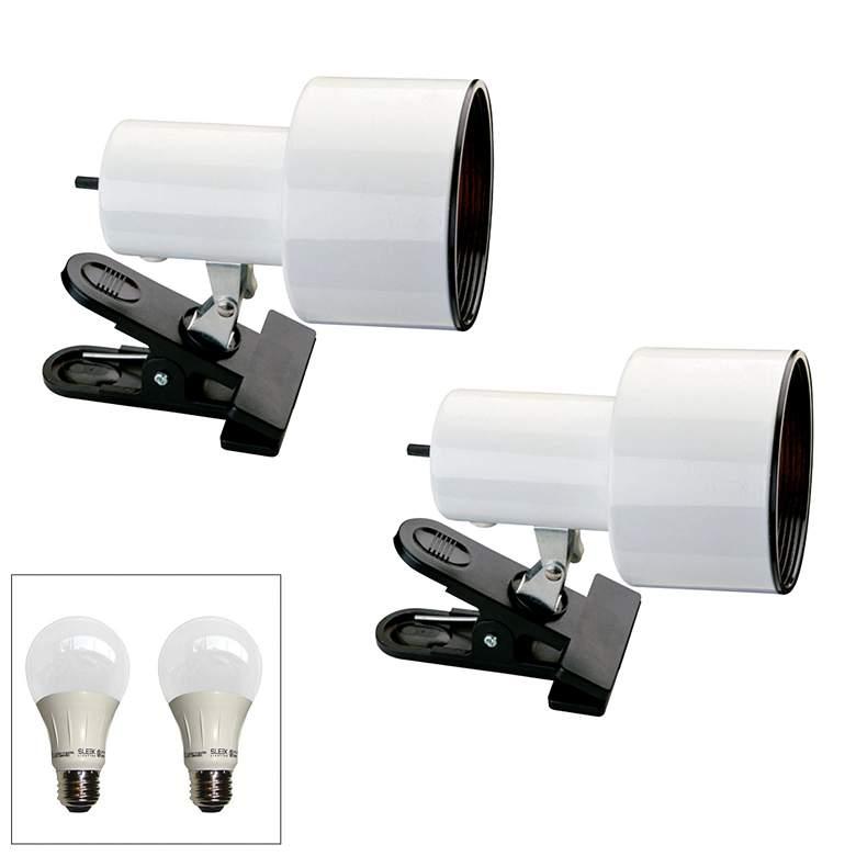 "Pro Track White 6"" High LED Mini Accent Clip Light Set of 2"