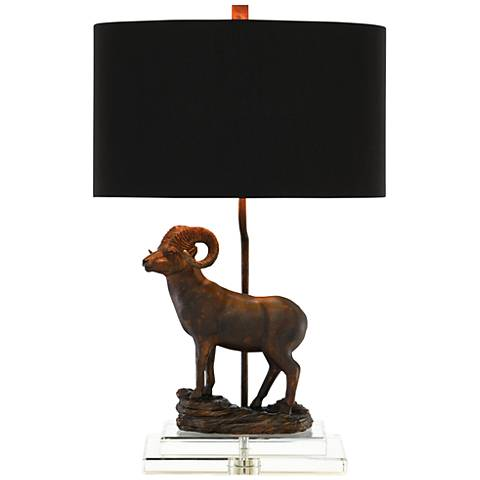 Currey and Company Cabra Bronze Gold Table Lamp