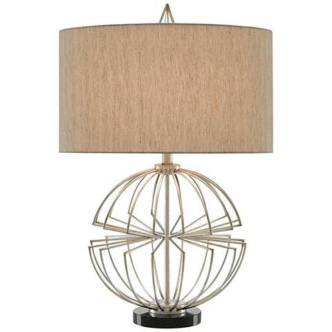 Currey and Company Haptic Silver Leaf Table Lamp