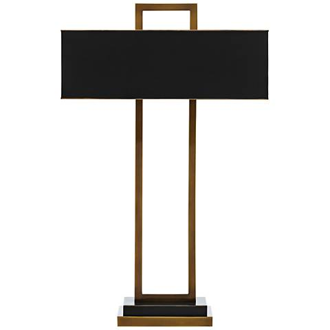 Otto Antique Brass and Oil-Rubbed Bronze Table Lamp