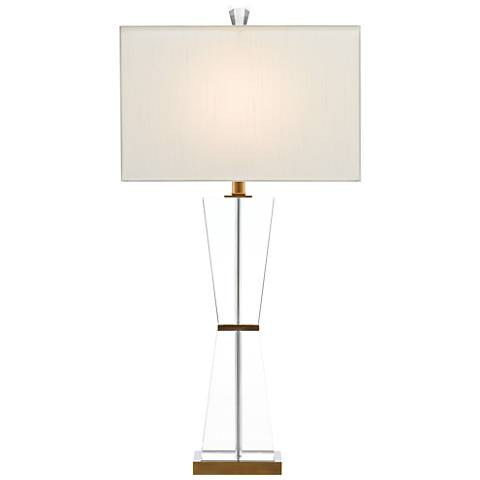 Laelia Brass and Crystal Modern Table Lamp
