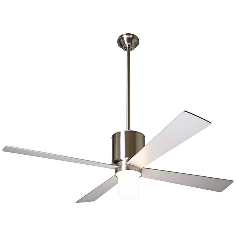 """50"""" Modern Fan Lapa Bright Nickel LED Ceiling Fan"""