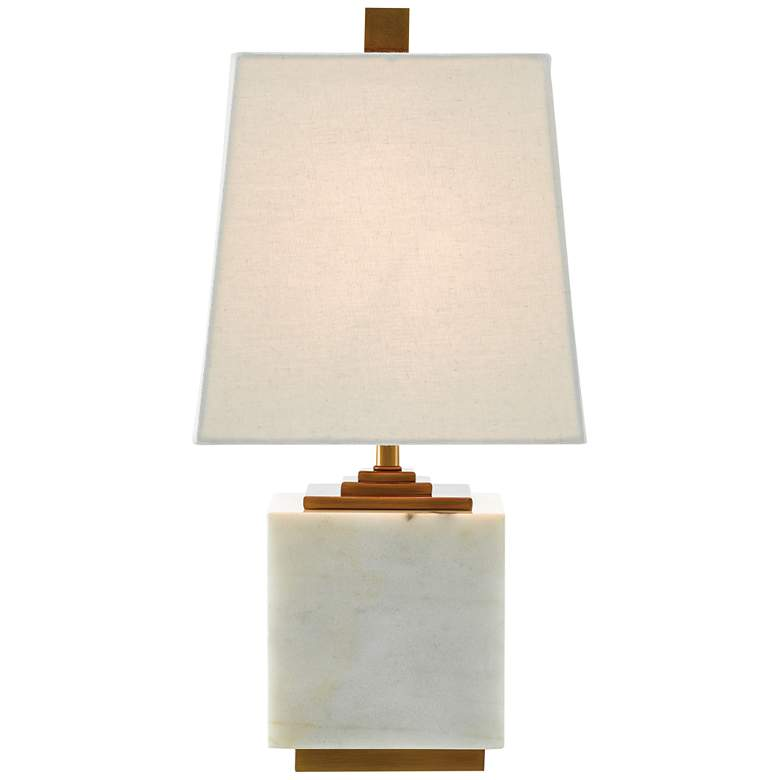 """Annelore 16 1/2"""" High White Marble Accent Table Lamp"""