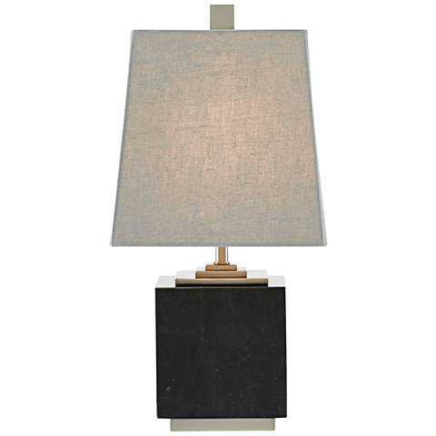 """Mairin 16 1/2"""" High Black Marble Accent Table Lamp"""