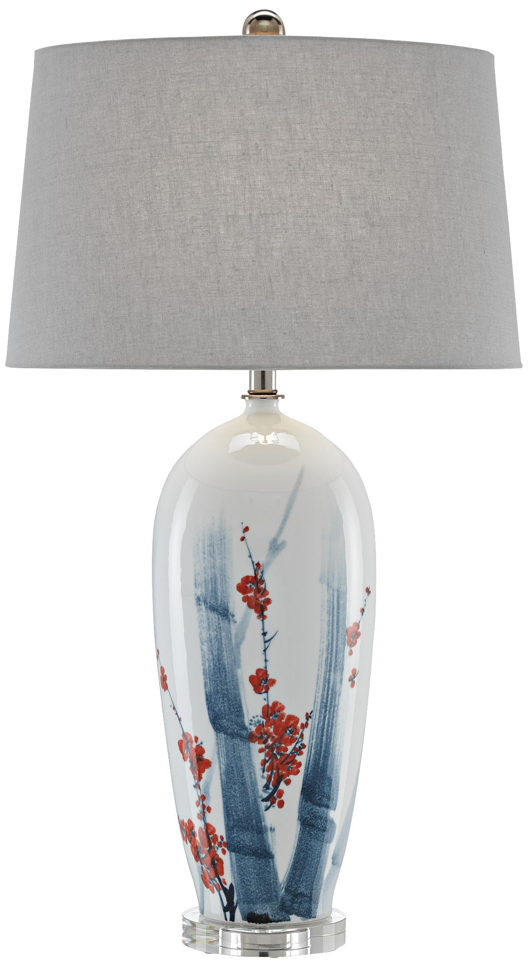 Currey And Company Arine Blue And White Table Lamp