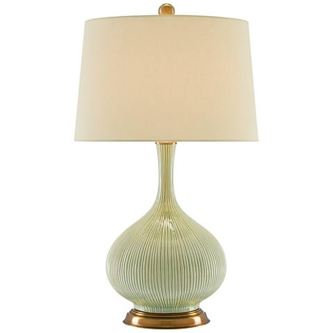 Currey and Company Cait Grass Green Table Lamp
